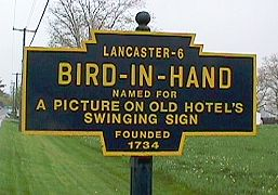 Bird-In-Hand village sign pic