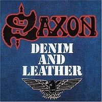 "Saxon ""Denim And Leather"" large album pic"