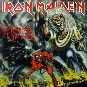 """IRON MAIDEN """"The Number Of The Beast"""" large album pic!!"""