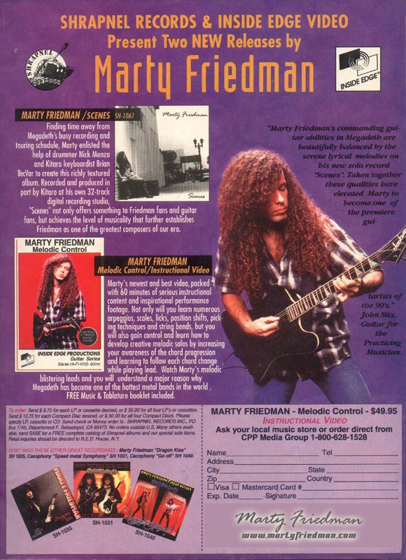 Marty Friedman of Megadeth art print Heavy metal guitar legend  poster