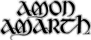 AMON AMARTH - Large Classic Logo b&w