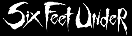 Six Feet Under - logo - white on black