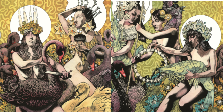 Baroness - Yellow & Green - promo covers!!