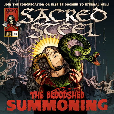 Sacred Steel - The Bloodshed Summoning - promo cover pic!