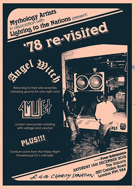 Angel Witch - '78 Re-Visited - concert flyer - December 2012