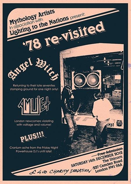 Angel Witch - '78 Re-Visited - concert flyer - December 2012