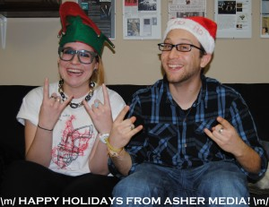 Asher Media Relations - Happy Holidays - 2012