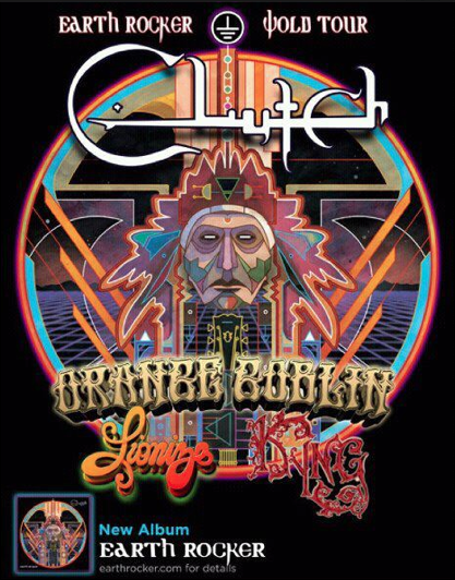 Clutch - Earth Rocker Tour Poster - 2013 - promo pic!