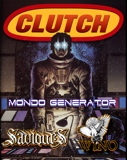 Clutch - WINO - Saviours - mondo generator - show flyer - Dec - 2012