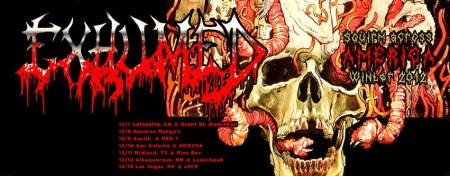 Exhumed - Winter Tour 2012 - promo banner!