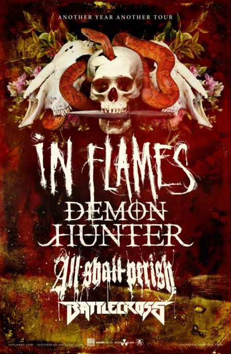 In Flames - Demon Hunter - NA Tour - poster promo - 2012