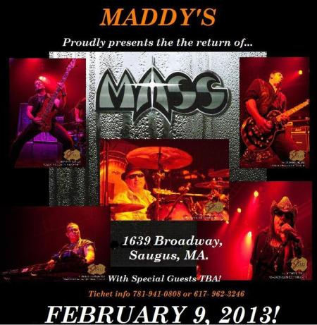 MASS - Concert Admat - Feb. 9th - 2013