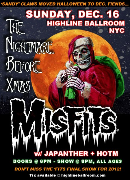 Misfits - The Nightmare Before Xmas - promo poster - Dec - 2012