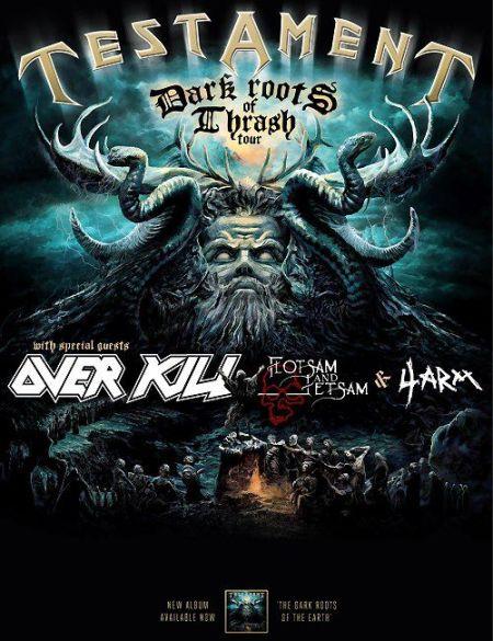 Testament - Dark Roots Of Thrash Tour - 2012 - Poster!