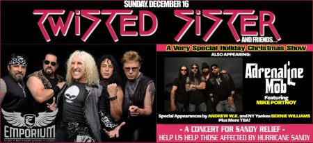 Twisted Sister - Adrenaline Mob - Dec 16th Concert - 2012 - hurricane sandy
