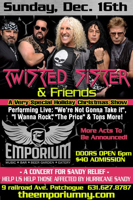 Twisted Sister - Concert For Sandy Relief - Dec 16 - 2012