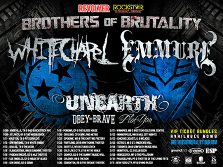 Unearth - Brothers Of Brutality - tour admat - 2013