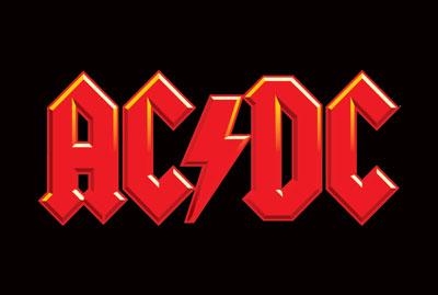AC:DC - large logo - red & black!