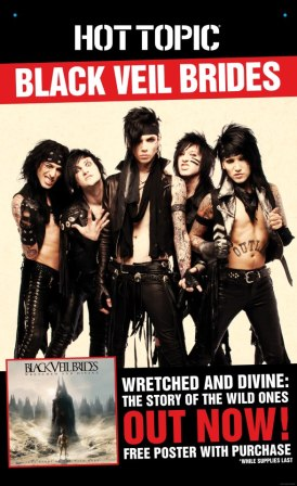 Black Veil Brides - Hot Topic - New Album - poster pic - 2013