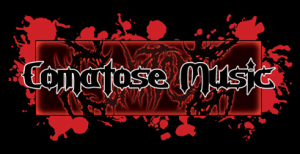 Comatose Music - Large Logo - Red & Black!