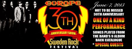 Europe - Sweden Rock Festival - 2013 - promo banner - 30th Anniversary