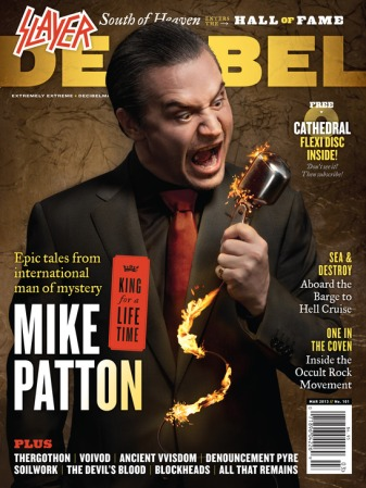 Mike Patton - Decibel Magazine - cover promo
