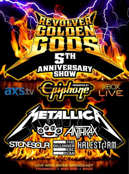 Revolver Golden Gods - 5th Anniversary promo flyer