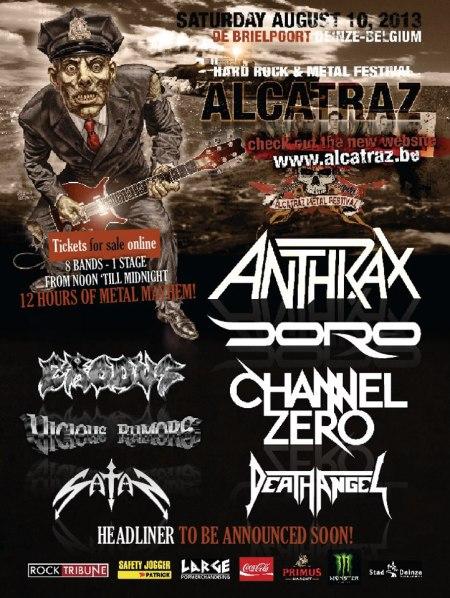 Alcatraz Metal Fest 2013 - promo flyer