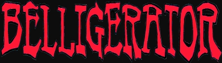 Belligerator - large logo - red & black