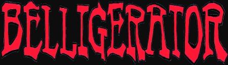 Belligerator - large logo - red & black