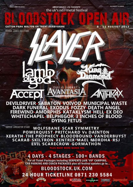 Bloodstock Open Air - 2013 - promo flyer