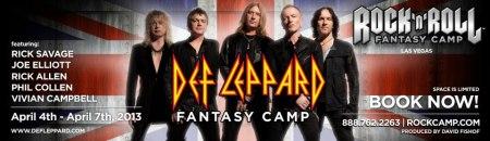 Def Leppard - Fantasy Camp - promo banner - 2013