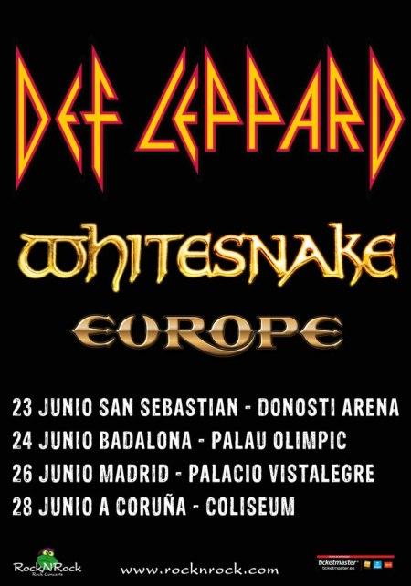 Def Leppard - Spain Tour Poster - June - 2013