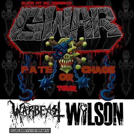 GWAR - Fate Or Chaos Tour - 2013 - promo flyer