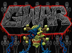 GWAR - promo flyer - logo - art - 2013 -