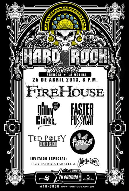 Hard Rock Festival - Lima Peru - 2013 - promo flyer