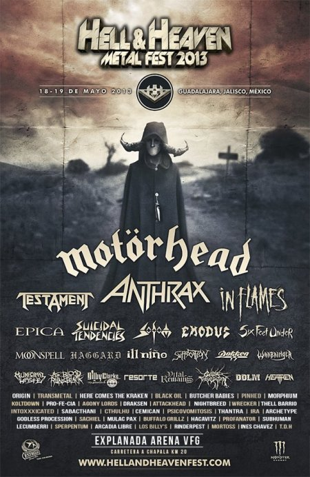 Hell & Heaven - 2013 - promo poster pic - Motorhead
