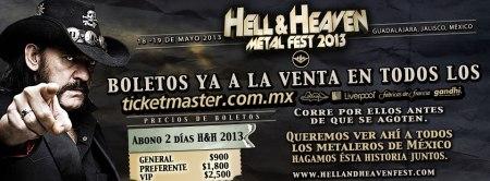Hell & Heaven Metal Fest - 2013 - promo banner - motorhead