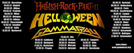 Helloween - Gamma Ray - Hellish Rock Part II - promo banner
