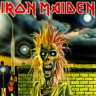 Iron Maiden - debut album - promo cover pic - large!