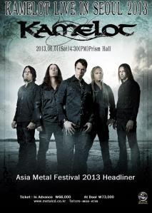 Kamelot - Asia Metal Fest - promo flyer
