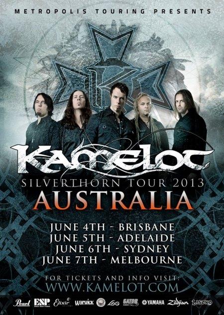 KAMELOT - Australia - 2013 tour - promo flyer