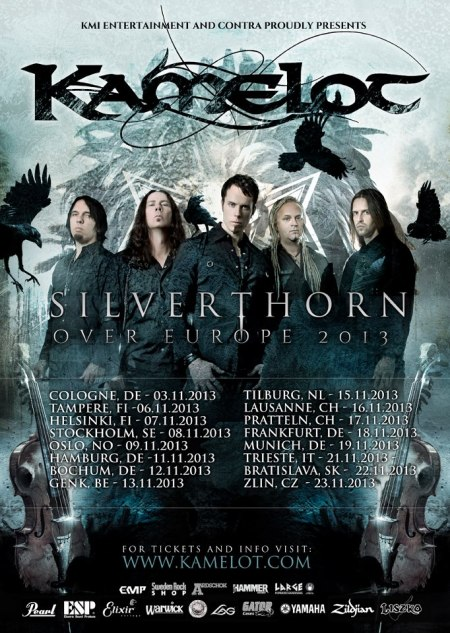 Kamelot - Silverthorn Over Europe 2013 - poster promo