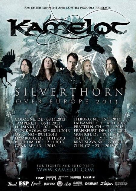 Kamelot - Silverthorn Over Europe 2013 - poster promo