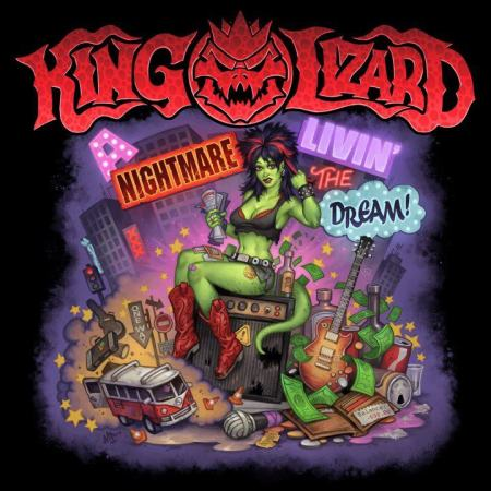 King Lizard - A Nightmare Livin' The Dream! - promo cover pic