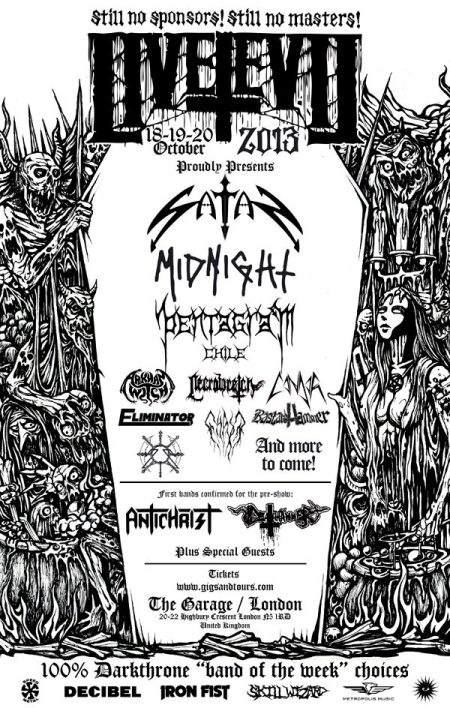 LIVE EVIL - Concert Flyer - 2013