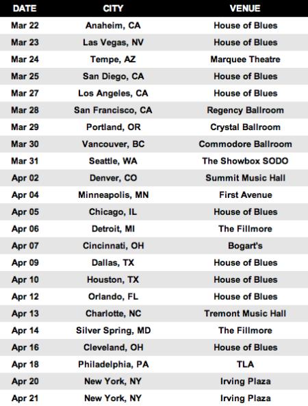Metal Alliance - 2013 - Tour Dates