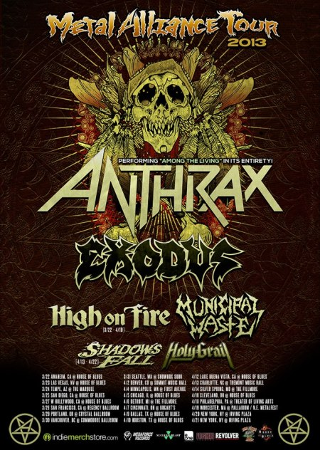 Metal Alliance Tour - 2013 - promo poster pic