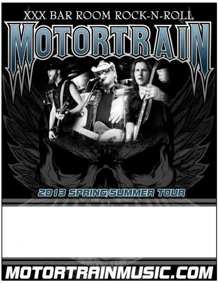 Motortrain - 2013 Spring:Summer Tour flyer