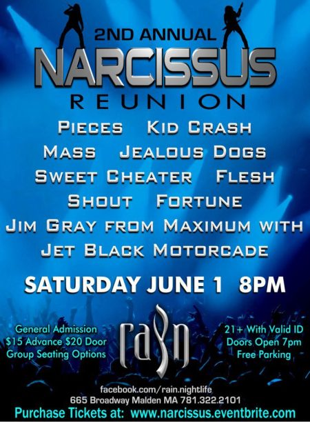 Narcissus - 2nd annual reunion - 2013 - promo flyer